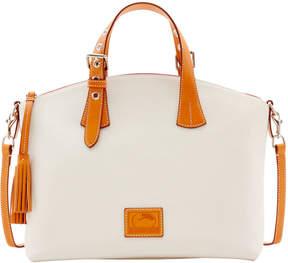 Dooney & Bourke Patterson Leather Large Trina Satchel - BONE - STYLE