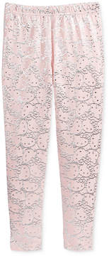 Hello Kitty Metallic-Print Leggings, Toddler Girls (2T-5T)