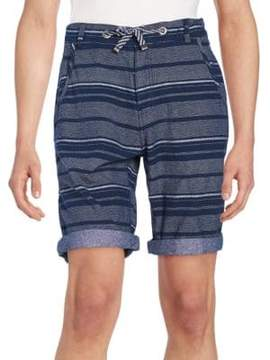 Buffalo David Bitton Multistriped Cotton Shorts