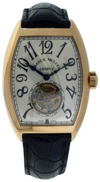 Franck Muller Cintree Curvex 18K Rose Gold & Leather 40mm x 55mm Watch