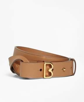 Brooks Brothers Samantha Leather Twist B Buckle Belt