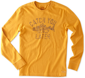 Life is Good Long Sleeve Crusher T-Shirt