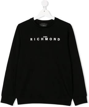 John Richmond Kids TEEN logo print sweatshirt