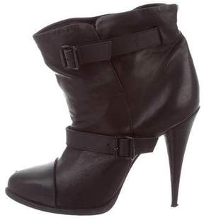 Givenchy Leather Round-Toe Ankle Boots
