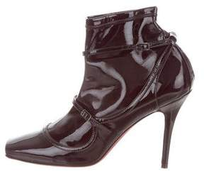 Jean-Michel Cazabat Patent Leather Ankle Boots