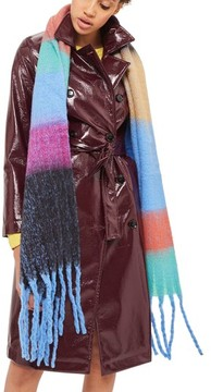 Topshop Women's Brushed Pop Stripe Scarf