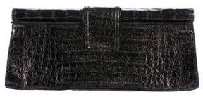 Nancy Gonzalez Glitter Crocodile Clutch