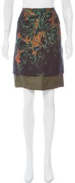 Cédric Charlier Layered Brocade Skirt