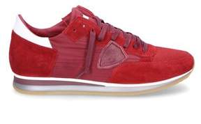 Philippe Model Men's Red Suede Sneakers.