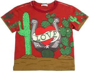 Dolce & Gabbana Love Printed Cotton Jersey T-Shirt