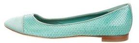 Alberta Ferretti Python Cap-Toe Flats