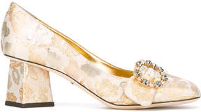 Dolce & Gabbana floral buckled pumps