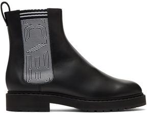 Fendi Black Logo Chelsea Boots