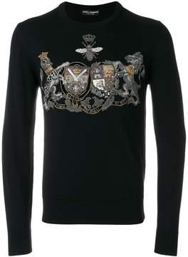 Dolce & Gabbana crest embroidered sweater