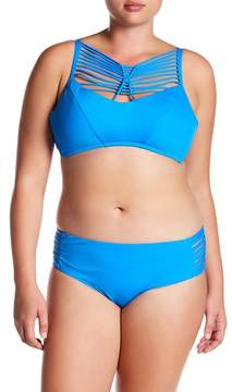 Becca Electric Current Cutout Hipster Bikini Bottoms (Plus Size)