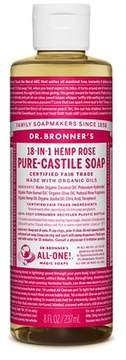 Dr. Bronner's Rose Pure-Castile Liquid Soap - 8oz