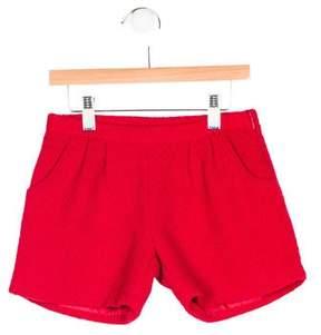 Miss Blumarine Girls' Tweed Tailored Shorts