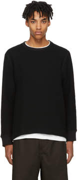 Our Legacy Black Waffle Open Sweatshirt