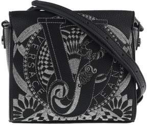 Versace EE1VRBBR5 Black Crossbody Bag with silk thread embroidery
