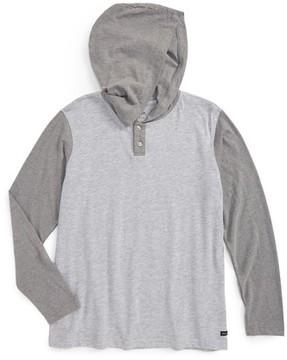 RVCA Boy's Pick Up Hooded Henley T-Shirt