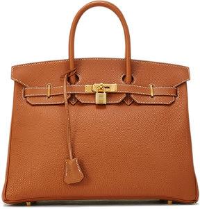 Hermes Vintage Togo Birkin Pebbled Satchel Bag, Brown - BROWN - STYLE