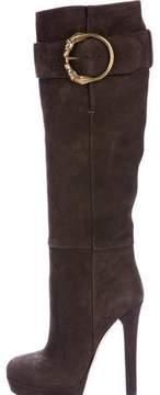 Gucci Leather Platform Boots
