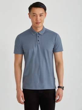 Frank and Oak Piqu Polo in Infinity Blue Heather
