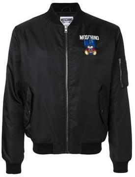 Moschino Men's Black Polyester Outerwear Jacket.