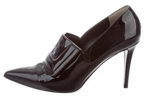 Fendi Pointed Patent Leather Booties