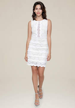 Bebe Jenny Lace Tiered Dress