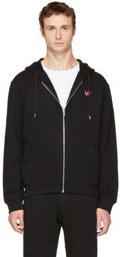 McQ Black Swallow Badge Zip Hoodie