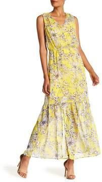 ECI V-Neck Floral Print Maxi Dress