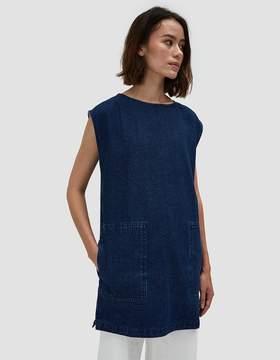 Which We Want Adelane Dress in Medium Wash