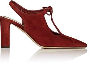 The Row Women's Front-Tie Suede Pumps