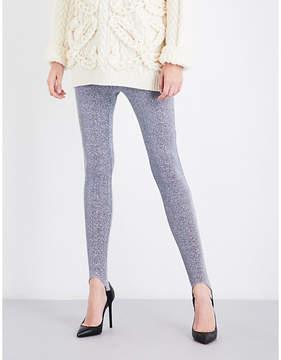 A.F.Vandevorst Skinny high-rise metallic lurex leggings