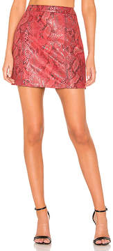L'Academie The Serpent Leather Skirt