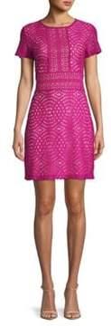 ABS by Allen Schwartz Geometric Lace Mini Dress