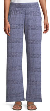 Allen Allen Ikat Print Stretch-Knit Pants
