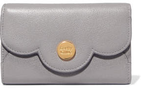See by Chloe Polina Scalloped Textured-leather Wallet - Stone