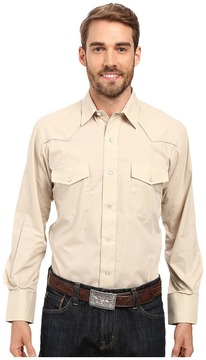 Roper 9844C2 Solid Broadcloth - Lt. Tan