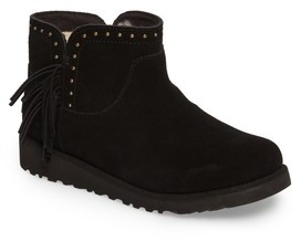 UGG Girl's Cindy Water-Resistant Genuine Shearling Studded Bootie