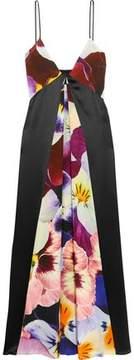 Christopher Kane Printed Silk Midi Dress