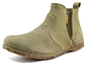 El Naturalista Angkor Women Round Toe Leather Green Ankle Boot.