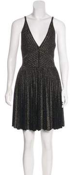 Elie Saab Metallic A-Line Mini Dress w/ Tags