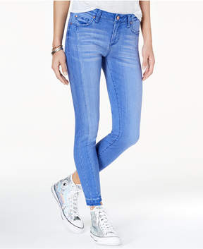 Celebrity Pink Juniors' Raw-Hem Skinny Ankle Jeans