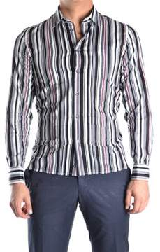 Richmond Men's Multicolor Cotton Shirt.