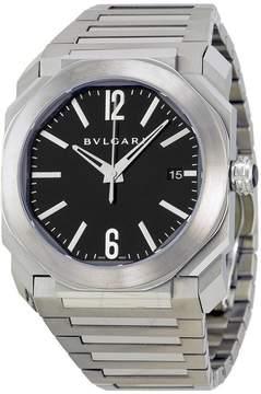 Bvlgari Octo Black Dial Stainless Steel Men's Watch