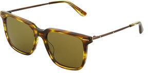 Bottega Veneta Plastic/Metal Square Sunglasses