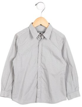 Bonpoint Boys' Printed Button-Up Top