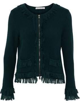Autumn Cashmere Fringe-Trimmed Cotton Jacket